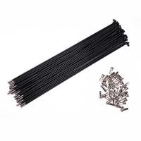 Customized Made Black Spoke Radius knitting Needle Steel 13G Bicycle Electric Bike Copper Nipple