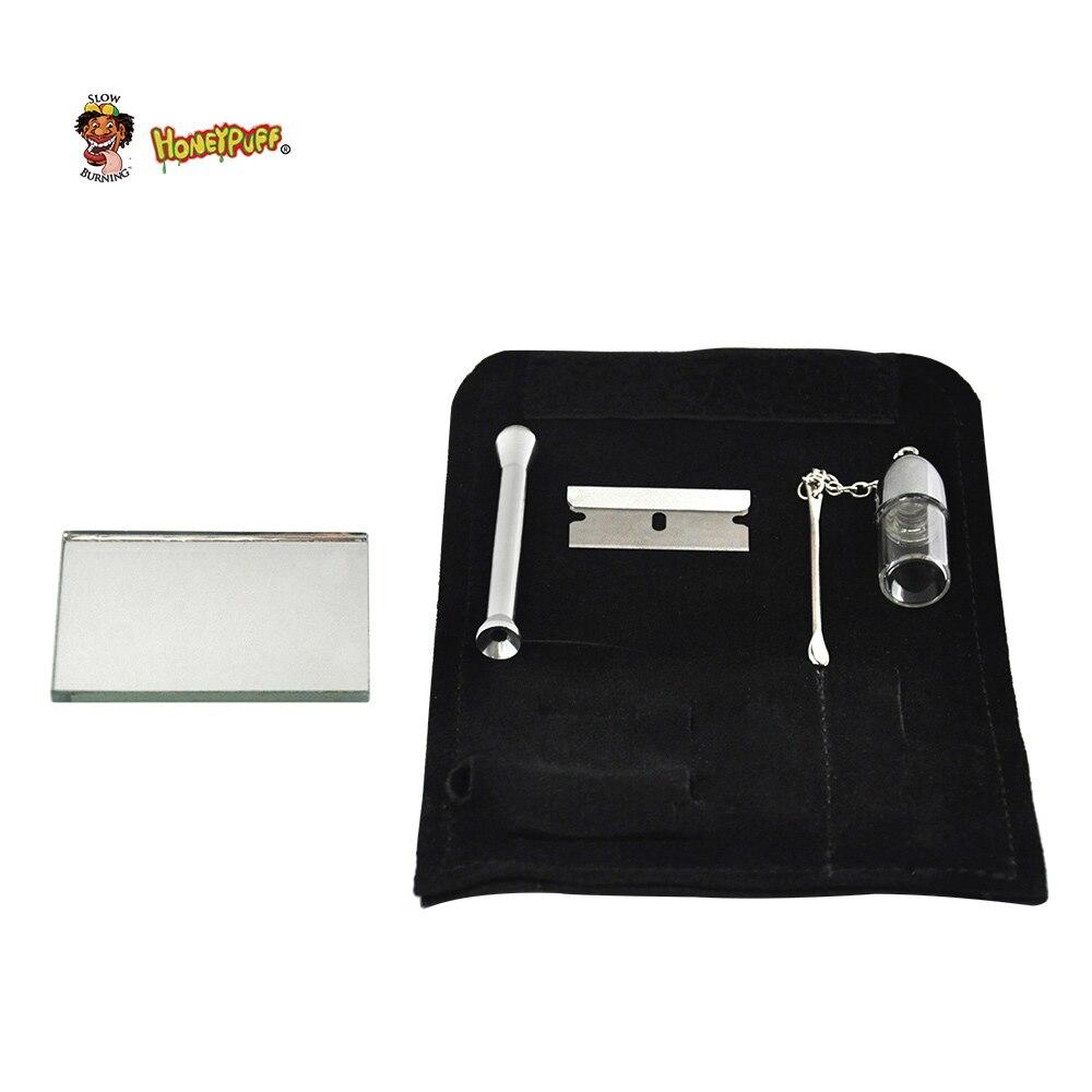HONEYPUFF 100% кожаный мешок для табачных мешков + Табак пуля храп инструмент нюхатель соломы Гувер трубы Чехол карман
