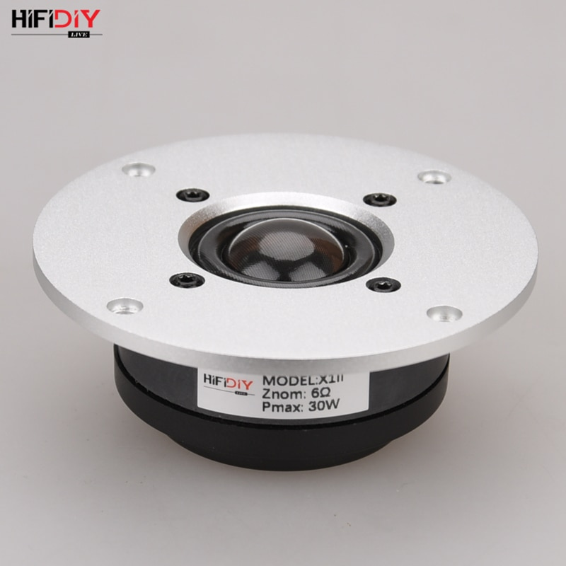 HIFIDIY LIVE 4 inch X1II Tweeter Speaker Unit aluminum transparent Silk membrane 6OHM30W Treble Loudspeaker silver 94 100 ~130mm
