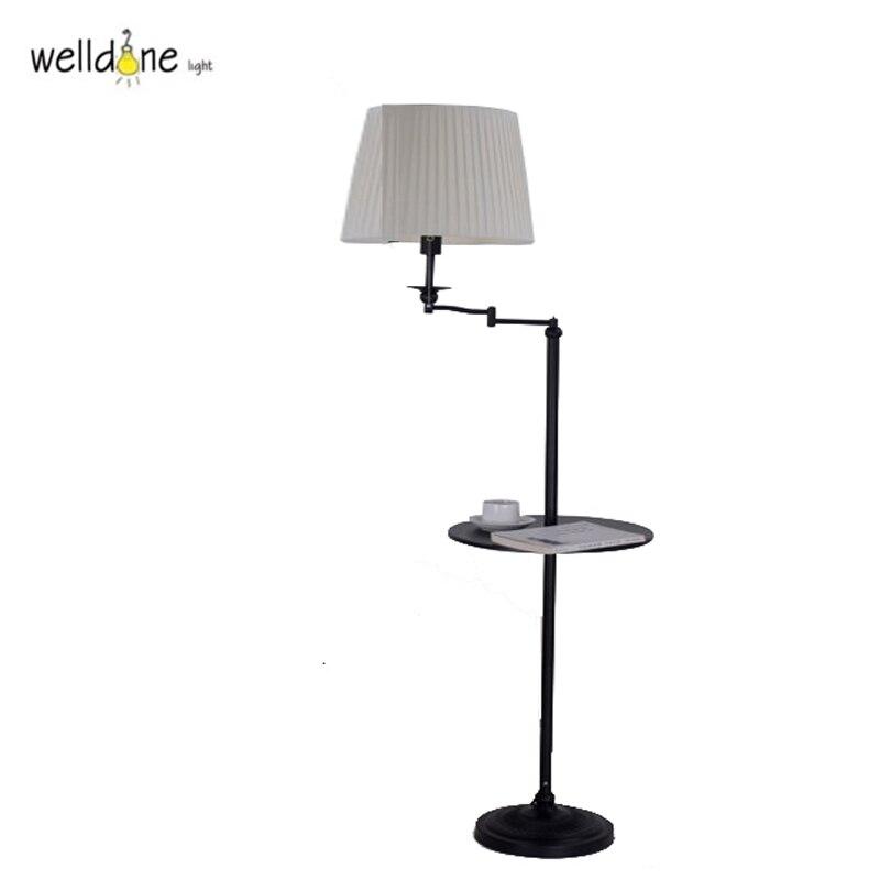 Lámpara de pie de diente de león moderna blanco negro sala de estar lámparas de pie de aluminio 110 V 220 V Lambader nueva luz E27