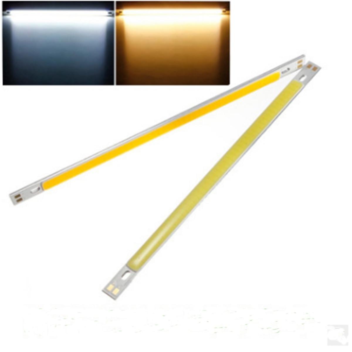10W COB LED Chips LED tira de luz con forma de barra bombilla lámpara de inundación blanco puro blanco cálido 1000LM para iluminación DIY 200x10mm DC12-24V