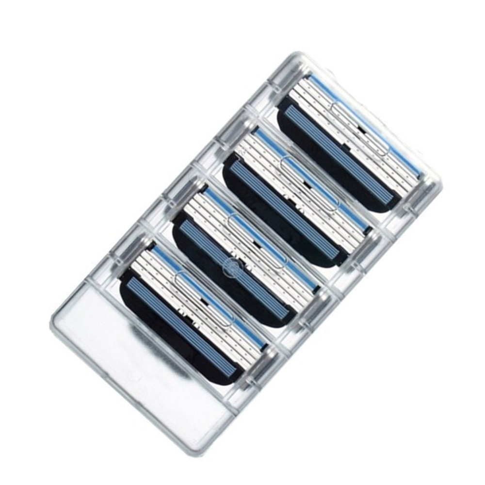 4PCS  3 Layers Men Face Shaving Razors Blades Male Manual Razor Blades For Standard Beard Shaver Tri