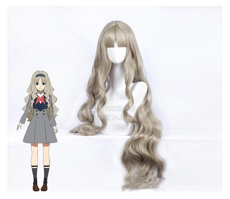 Anime CÓDIGO DE Darling in the Franxx 556 KOKORO Cosplay peluca largo ondulado rizado Peluca de pelo sintético + tapa de la peluca