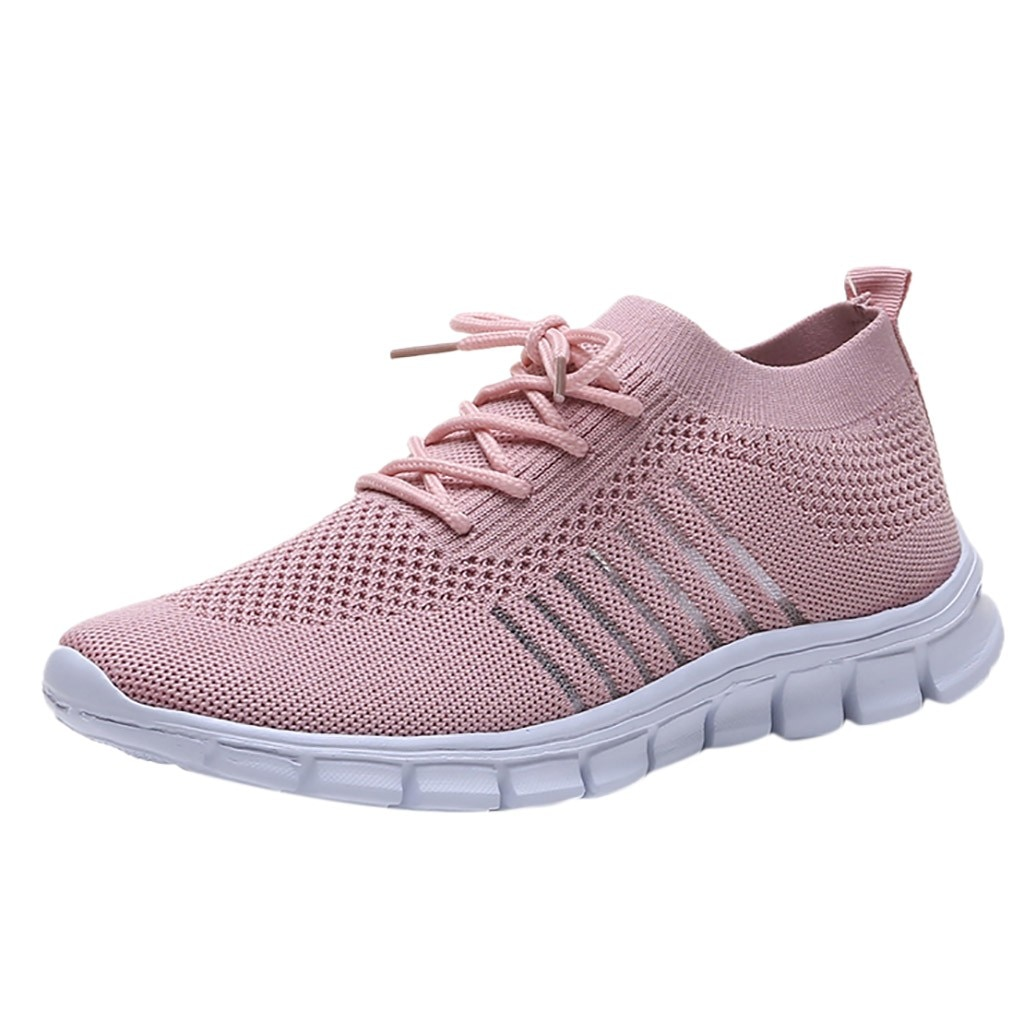 CHAMSGEND New Fashion Breathable Women's Mesh sports shoes Lightweight running shoes comfortable cas