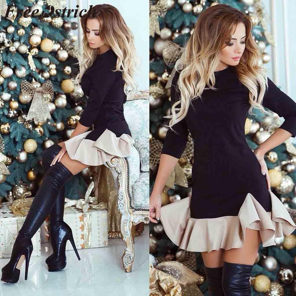 Livre avestruz vestido feminino retalhos o-pescoço acima do joelho plissado casual meia manga corrente elegante graciosa vestido curto verão