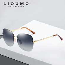 Gafas de sol polarizadas para mujer con diseño de marca de moda 2019 gafas de sol para mujer con marco de cristal UV400 negras