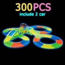 Glow tor wyścigowy zestaw 5 Led Light Track samochód elastyczne świecące utwory zabawka 162/165/220/240 tor wyścigowy elastyczny kolejowy LED samochód