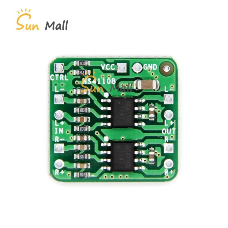 Placa Amplificador diferencial 2x18W Digital Classe D/Classe AB Audio Power Amplifier Tensão NS4110B 6- 14V