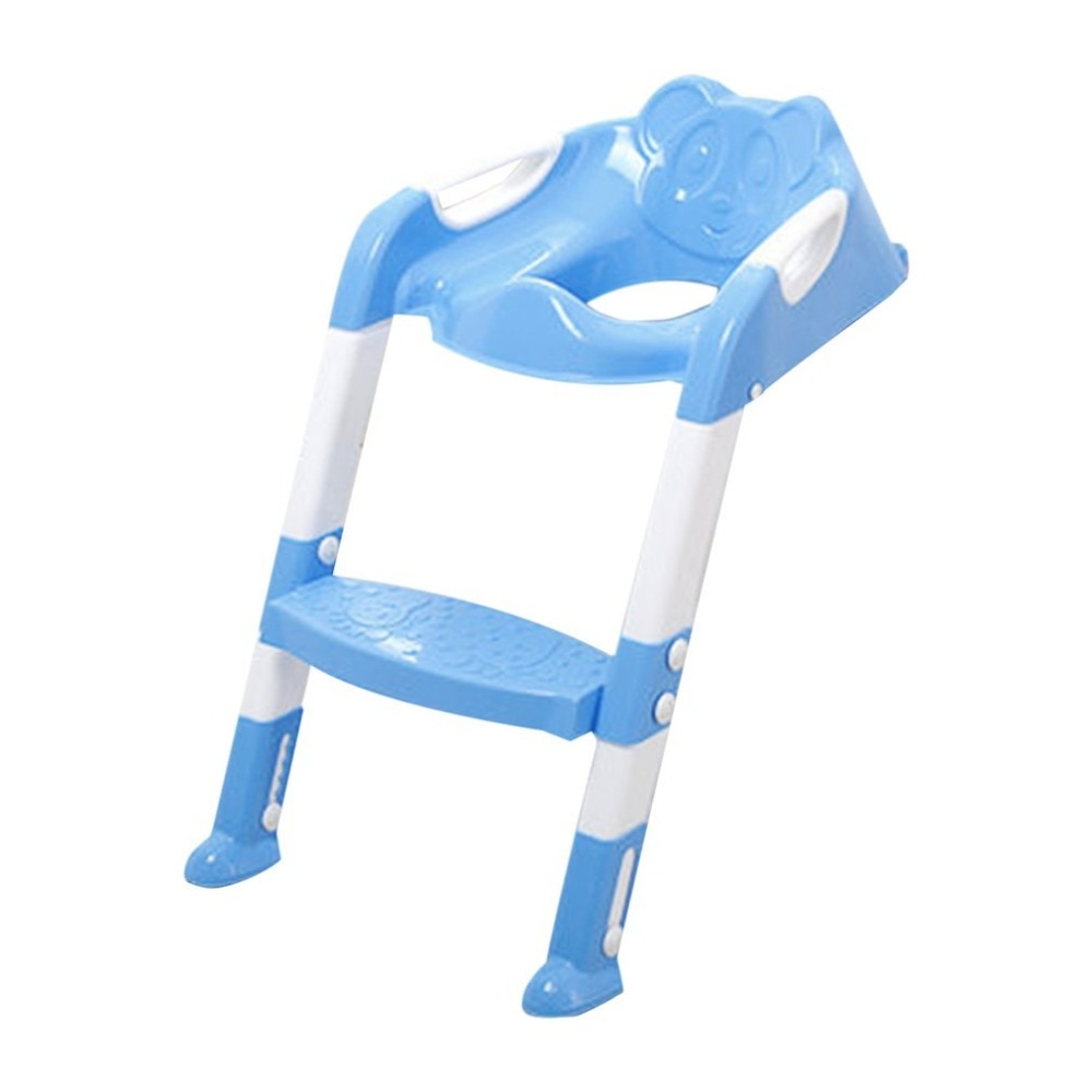 Orinal plegable para niños con cubierta de escalera, inodoro PP, silla ajustable, orinal de entrenamiento, orinal, orinal, soportes y soportes