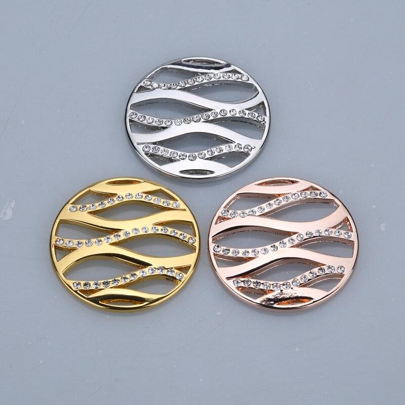 33mm modo minhas moedas estilo titular colar de cristal prata cor rosa ouro amor colar pingentes para amigo