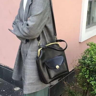 Mode petit Clip sac femmes rétro Messenger sacs femme sac à main épaule bandoulière vintage all-match sac coquille Bolsa Feminina