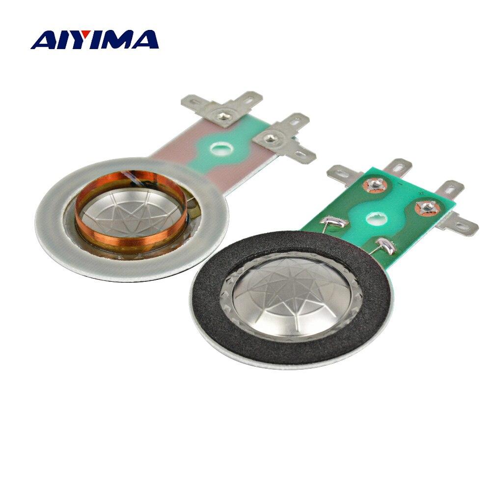AIYIMA 2 uds 25,5 MM triple Bobina de voz titanio diafragma cuerno altavoz Tweeter Bobina de voz