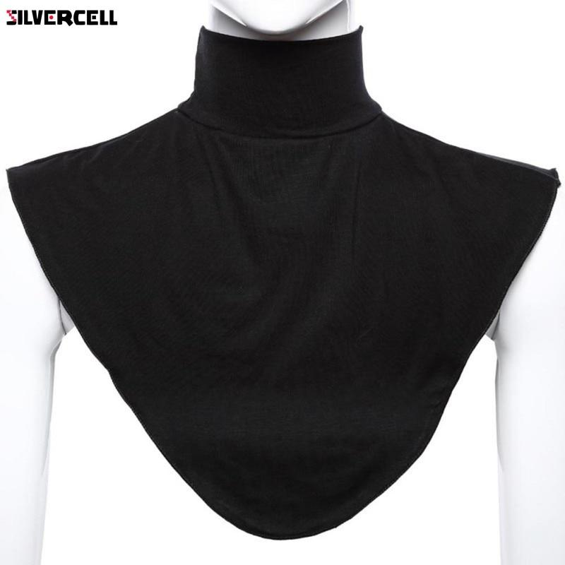 Hijab islámico extensiones de cuello pecho espalda cubierta Modal bufanda media camiseta musulmana