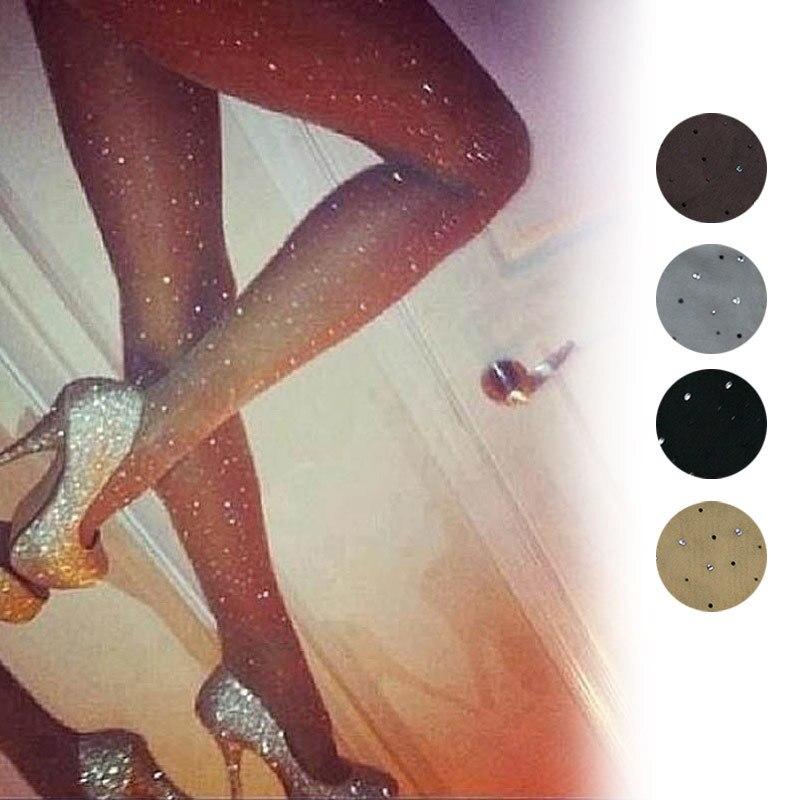 Pantimedias sexis para mujer, básicas, elásticas, ultrafinas, brillantes, de cristal, ajustadas, XRQ88