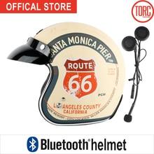 TORC T50 Bluetooth casco moto Classic Open face helmet Connect Phone Support call Retro Motorcycle helmet capacete California