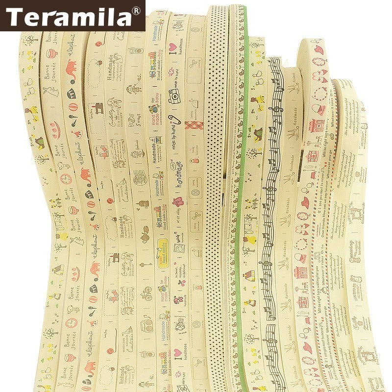 Teramila Fabric Cotton Label Ribbons Handmade  Garment DIY Sewing Handcraft Kid Cloth Accessories 2cm/2.5cm Width 2m/Lot