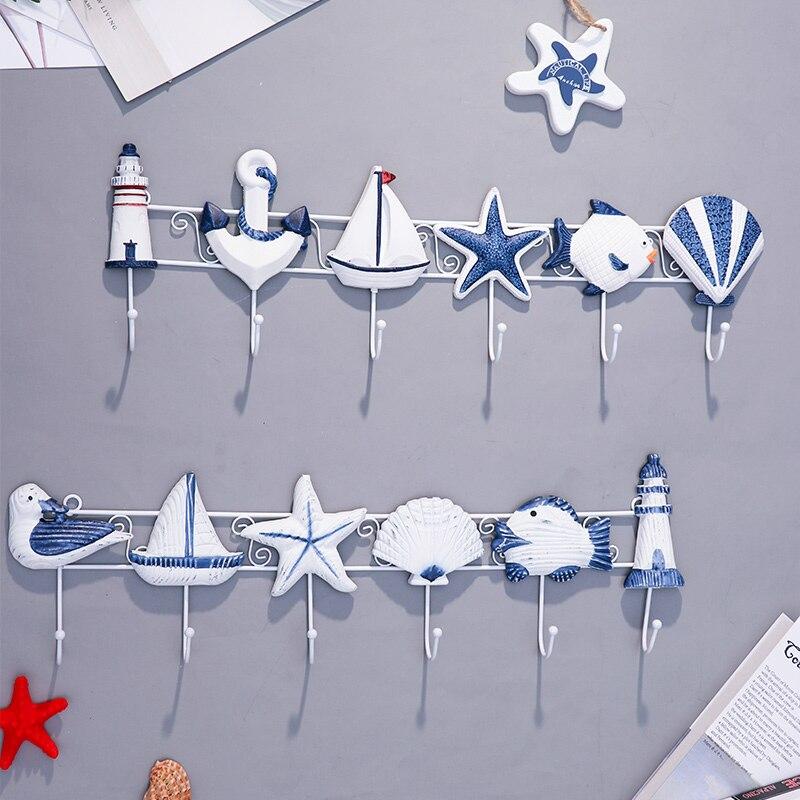 Decoración mediterránea habitación de los niños sala de estar porche de la tienda de ropa de tapa clave creativo adornos Accesorios