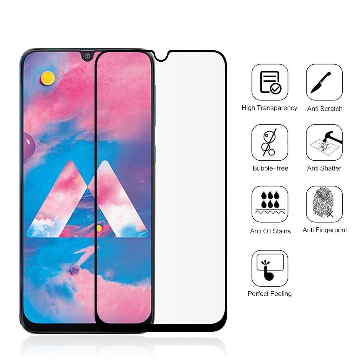 Tempered Glass Full Cover Film For Samsung Galaxy M30 Screen Protector For Samsung Galaxy M30 Film M