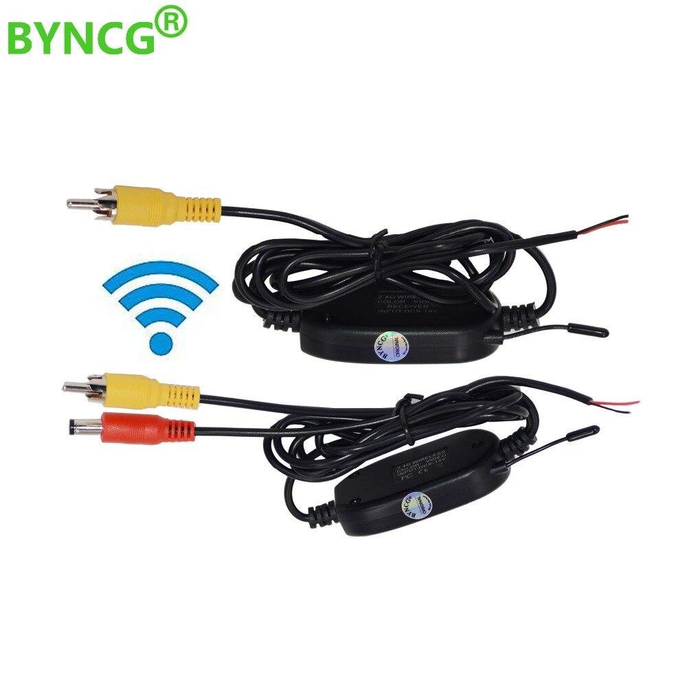 Беспроводная камера заднего вида BYNCG, 2,4 ГГц, RCA, видео передатчик и приемник, комплект для автомобильного монитора заднего вида, fm-передатчик и приемник