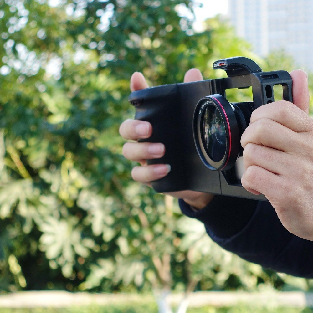 Common Rabbit Cage Smartphone Camera Stabilizer Video Rig Filming Cage + Lens for Xiaomi iPhone Phone estabilizador de camera