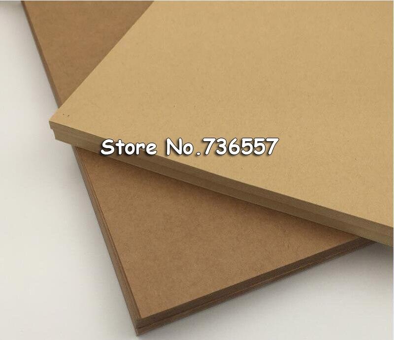 50 Uds A4 tamaño 21*29,7 cm de papel Kraft 250gsm Tarjeta de papel caja DIY de embalaje de regalo 250gsm 50 hojas