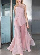 Voir Orange Défilé De Mode Fée Rose Robe Femmes Dété Robe Sexy En Mousseline de Soie Bohemain Robe Longue Boho DressSO3325