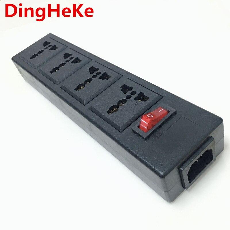 Adaptador de corriente Universal multifunción de 4 clavijas, 250v, 10A, toma de corriente, tira de cableado PDU, enchufe de extensión, convertidor de cable de alimentación