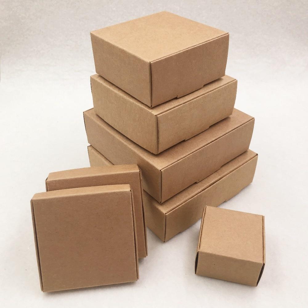 24 шт./лот 7 размеров маленькая крафт-картонная упаковка подарочная коробка ручной работы мыло Конфета для свадебных украшений вечерние прин...