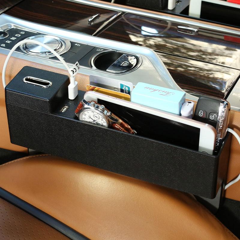 New Car seat crevice storage box universal multi-function Auto Gap Pocket for acura mdx rdx zdx jaguar f-pace xf xj xjl XE x351