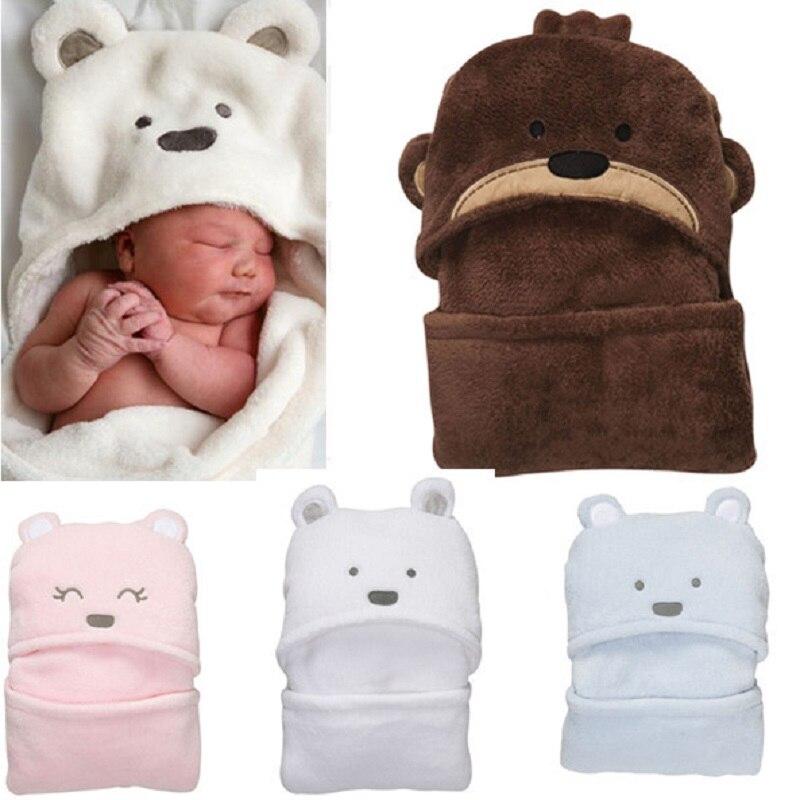 Одеяло с капюшоном для новорожденных с животными, горячая распродажа