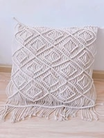 decorative wedding pillow cover handmade cream macrame boho cushion cover black white beige cushion customized size throw pillow