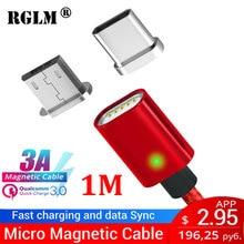 Câble magnétique RGLM Micro USB Type C chargeur ultra rapide Microusb type-c chargeur magnétique USB C pour iphone huawei xiaomi