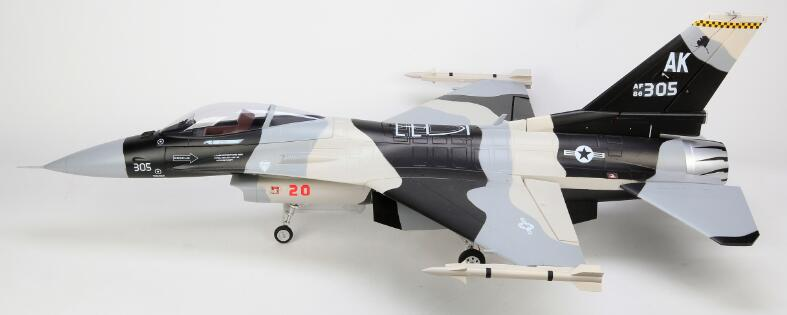 HSD F16 105mm EDF jet plane PNP formato 8S o 12S versión thunderbird y camo gris con sistema de freno y giroscopio