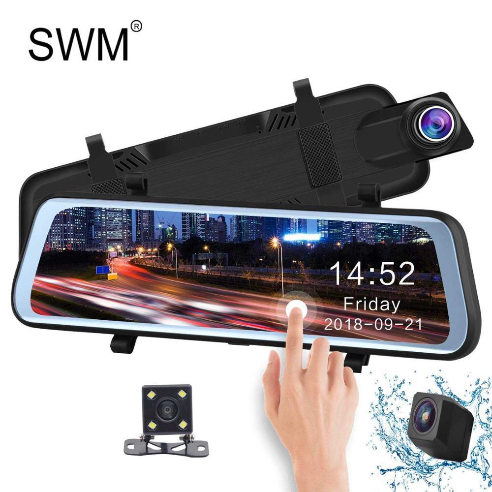Cámara de Cámara Para Auto grabador de vídeo DVR cámara de salpicadero espejo de cámara Digital de visión nocturna cámara de salpicadero FHD 1080P DVR