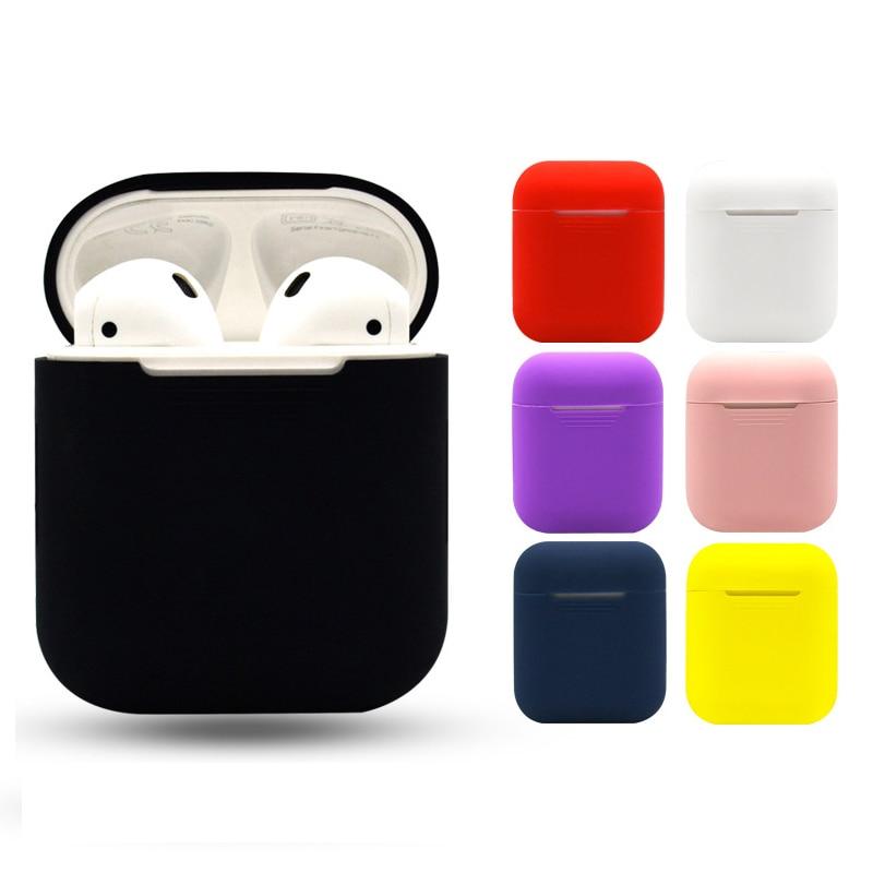 Para AirPods Airpod Silicone Case Capa Protetora Da Pele para A Apple Caso De Carregamento esporte fone de ouvido fone de ouvido gota de compras