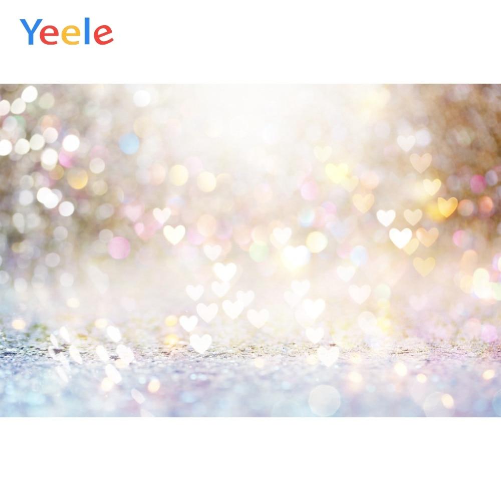 Yeele Love Heart Light Bokeh Dreamy Portrait свадебные фотографии фоны для фотографий индивидуальные фотостудии