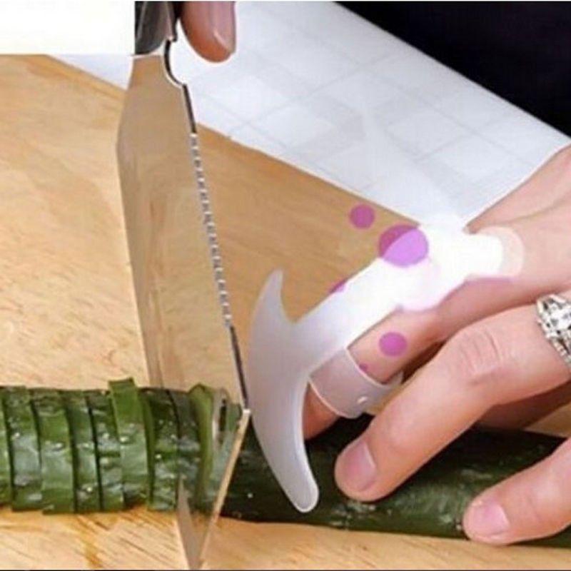 Lot 5pcs Kitchen Gadgets Security Design Food Knife Slice Chop Cut Vegetable Rest Anti-cut Finger Pr