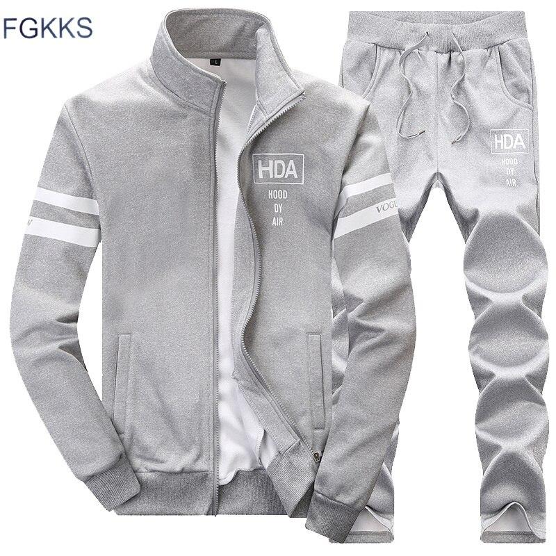 FGKKS 2020 survêtements à capuche printemps été et automne hommes vêtements de Sport survêtement marque vêtements pour hommes Sport costume