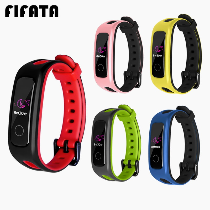 FIFATA For Huawei Honor 4 Running Sport TPU Bracelet Strap Silicone Replacement Band Strap For Huawei Band 4E/3E Smart Wristband