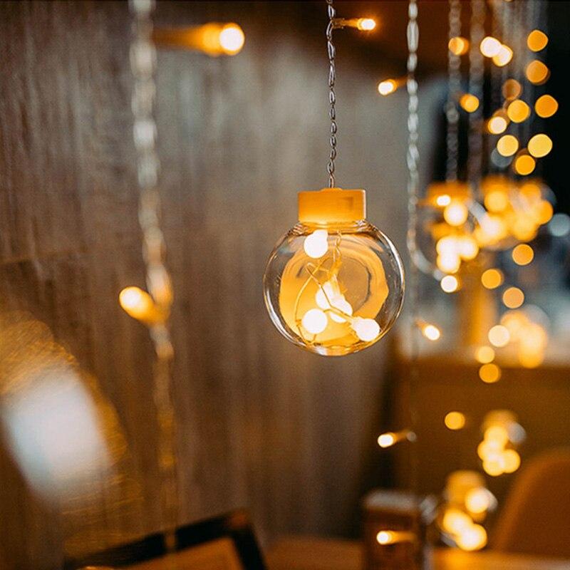 2,5 м сказочная гирлянда, светодиодные шары, гирлянды для рождественской елки, свадьбы, дома, для помещений, украшения сада, гирлянды, лампы