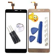 5.7 polegada tela sensível ao toque do telefone móvel para leagoo m8 tela de toque vidro digitador da lente do painel sensor vidro adesivo presente para m8 pro