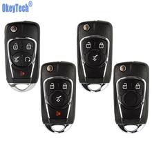Okeytech Flip Key Shell Voor Chevrolet Cruze Voor Buick Voor Vauxhall Opel Insignia Astra J Zafira C Vervanging 2/3 Knoppen fob