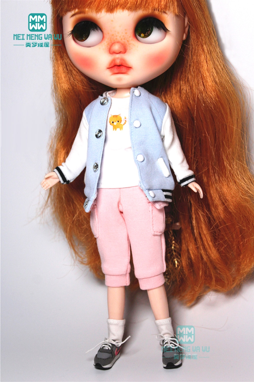 1PCS Blyth clothes fashion Sweatshirts, T-shirts, casual pants for Blyth Azone 1/6 doll accessories недорого