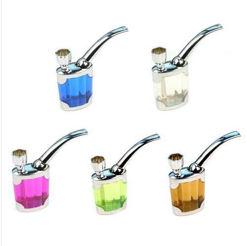 Mini pipa de agua tabaco hookah Shisha pipa soporte de humo de cigarrillo tubo de filtro
