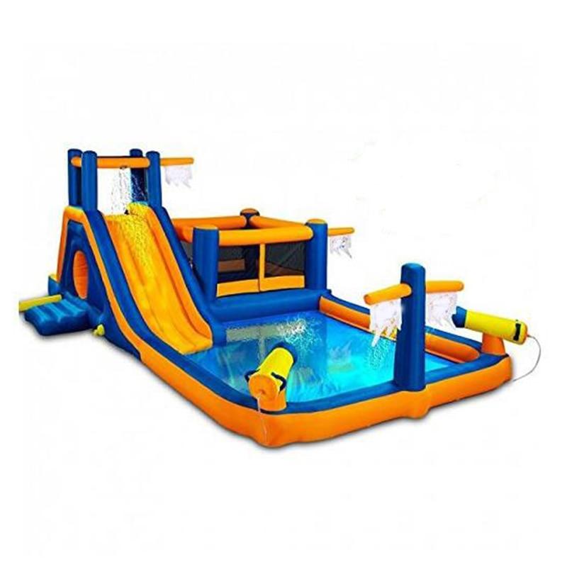 Happy hop Amusement Park Inflatable Water Slide inflatable Bouncer Slide Castle infl.atable pool for children