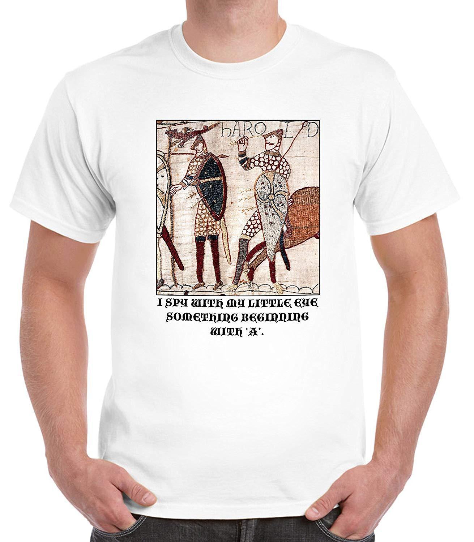 Divertida camiseta de cuello redondo de moda con estampado de alta calidad informal de cuello redondo y cuello redondo de Bayeux, camiseta de talla grande