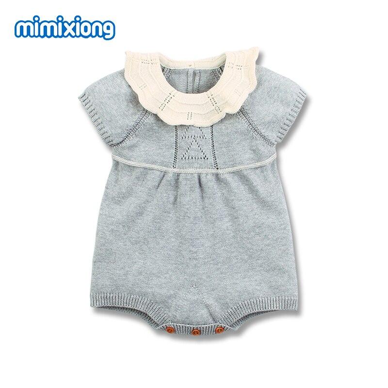 Bebé Niñas Ropa sin mangas bebé recién nacido Bebes cuerpo trajes Tops sólido de niño de punto niños trajes 0-18M