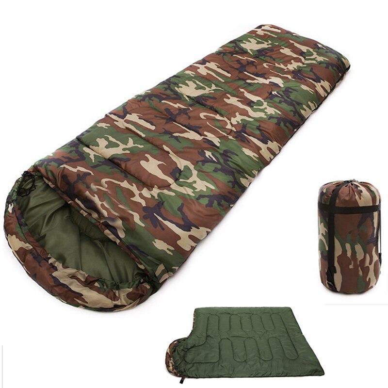 Bolsa de dormir impermeable, saco de compresión ligero, bolsa de dormir militar, bolsas de dormir deportivas, Camping, playa, viaje, supervivencia