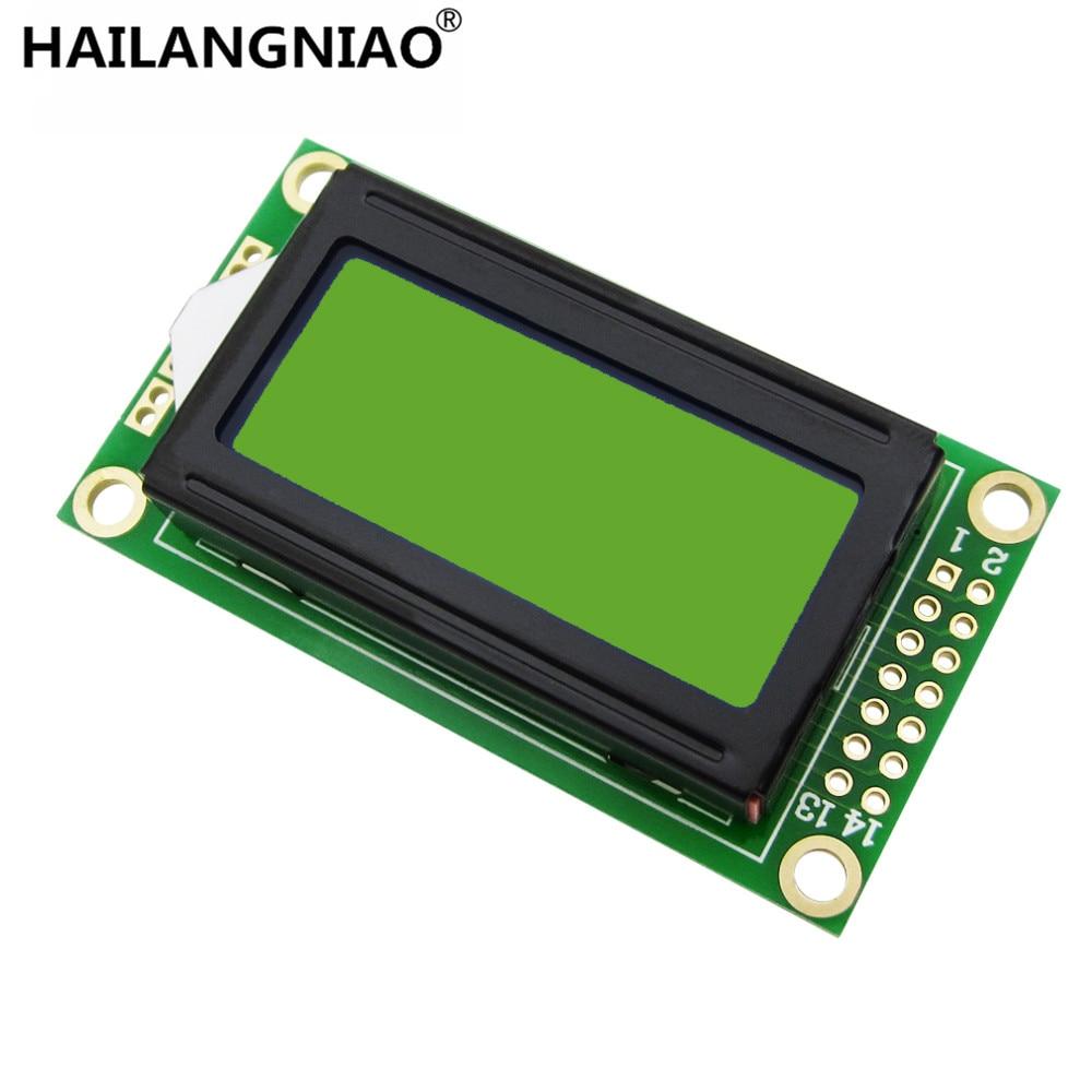5 unids/lote gran oferta módulo LCD 8x2 Pantalla de 0802 caracteres azul o verde