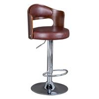 Solid Wood Bar Stool European Bar Stool Home Retro Backrest Lift Rotating High Stool Front Desk Cashier Bar Chair Counter Stool
